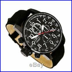 Invicta Men's Watch I-Force Chronograph Lefty Black Dial Black Fabric Strap 1517
