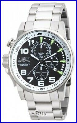 Invicta Men's Watch I-Force Chronograph Lefty Black Dial Steel Bracelet 14955