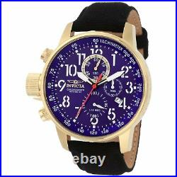 Invicta Men's Watch I-Force Chronograph Lefty Blue Dial Black Fabric Strap 1516