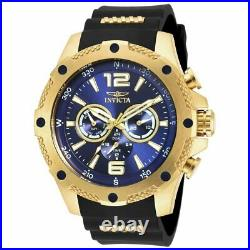 Invicta Men's Watch I-Force Quartz Blue Dial Steel and Rubber Strap 19659