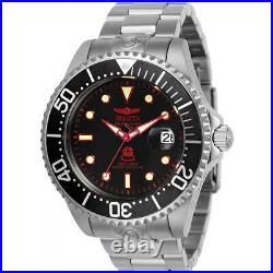 Invicta Men's Watch Pro Diver Automatic Black Dial Silver Tone Bracelet 24764