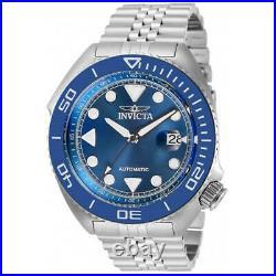 Invicta Men's Watch Pro Diver Automatic Blue Dial Silver Steel Bracelet 30411