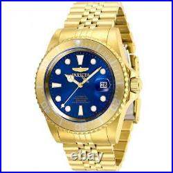 Invicta Men's Watch Pro Diver Automatic Blue Dial Yellow Gold Bracelet 30097