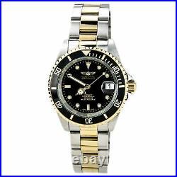 Invicta Men's Watch Pro Diver Black Dial Automatic Two Tone Steel Bracelet 8927C