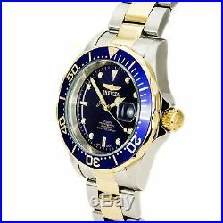 Invicta Men's Watch Pro Diver Blue Dial Automatic Two Tone Bracelet 8928