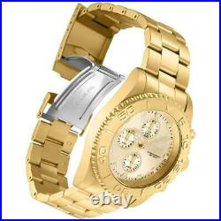 Invicta Men's Watch Pro Diver Chrono Quartz Yellow Gold Steel Bracelet 28683