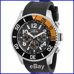 Invicta Men's Watch Pro Diver Chronograph Black Dial Rubber Strap 30985