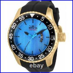 Invicta Men's Watch Pro Diver Ocean Voyage Yellow Gold Case Blue Dial 32659
