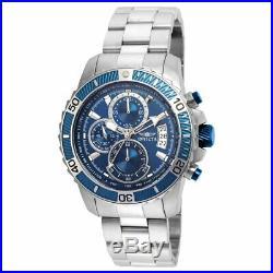 Invicta Men's Watch Pro Diver Scuba Blue and Silver Tone Dial Bracelet 22413