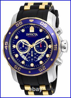 Invicta Men's Watch Pro Diver Scuba Chrono Blue and Gold Tone Dial Strap 22971