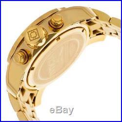 Invicta Men's Watch Pro Diver Scuba Quartz Chronograph Gold Tone Dial 21924