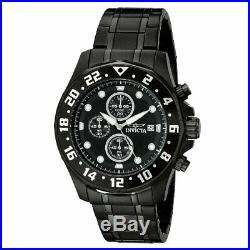 Invicta Men's Watch Specialty Chronograph Black Stainless Steel Bracelet 15945