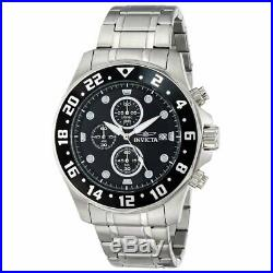 Invicta Men's Watch Specialty Chronograph Black and Silver Tone Dial 15938