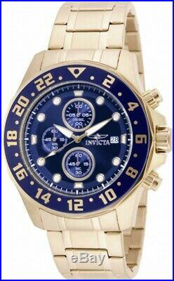 Invicta Men's Watch Specialty Chronograph Blue and Gold Tone Dial Bracelet 15942