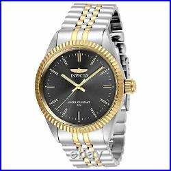 Invicta Men's Watch Specialty Quartz Charcoal Dial Two Tone Bracelet 29377