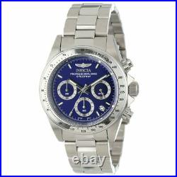 Invicta Men's Watch Speedway Chrono Blue Dial Stainless Steel Bracelet 14382