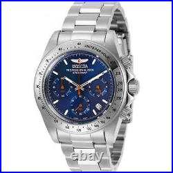 Invicta Men's Watch Speedway Chronograph Blue Dial Silver Tone Bracelet 27770