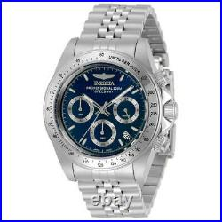 Invicta Men's Watch Speedway Chronograph Blue and Silver Dial Bracelet 30990
