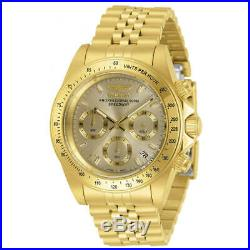 Invicta Men's Watch Speedway Chronograph Gold Tone Dial Bracelet 30997