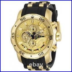 Invicta Men's Watch Star Wars C-3PO Quartz Gold and Black Dial Strap 32529