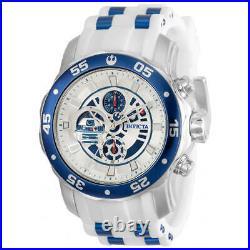 Invicta Men's Watch Star Wars R2-D2 Quartz Silver and Blue Dial Strap 32528