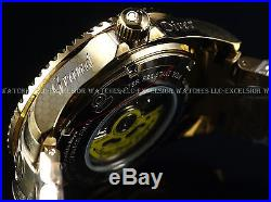 Invicta Mens 300M Fish Scale Grand Diver Automatic 18K Gold IP Blue Dial Watch