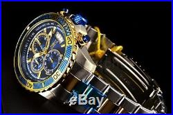 Invicta Mens 45mm Pro Diver Chronograph Two Tone Stainless Steel Bracelet Watch