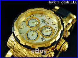 Invicta Mens 46mm CAPSULE Swiss Chronograph White MOP Dial Stainless Steel Watch