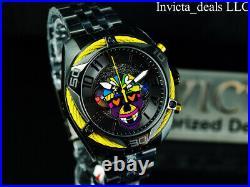 Invicta Mens 47mm BRITTO BOLT Chronograph BLACK DIAL Black Tone Ltd Ed SS Watch
