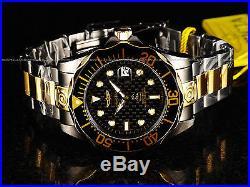 Invicta Mens 47mm Grand Diver Automatic TT Gunmetal & 18K GP 300M Black SS Watch