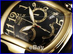 Invicta Mens 47mm Lupah DRAGON Swiss 5040. D Chrono Black Dial Gold Tone SS Watch