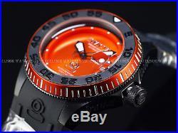 Invicta Mens 47mm Sea Volcanic Orange Grand Diver Automatic Silicone Strap Watch
