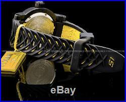 Invicta Mens 48mm Japanese S1 Rally Ninja Yellow n Black Textur Dial Strap Watch