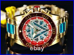 Invicta Mens 48mm Limited Ed. Marvel IRON MAN Chronograph Red & Ice Blue Watch