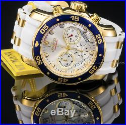 Invicta Mens 48mm Pro Diver Scuba Chronograph Gold n Silver Gold Plated PU Watch