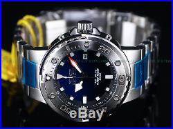 Invicta Mens 49mm GRAND Scuba Automatic BLUE Dial ALL SILVER Case Bracelet Watch