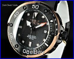 Invicta Mens 49mm GRAND Scuba Automatic Black Dial Rose Gold Case Bracelet Watch