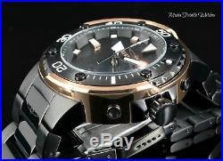 Invicta Mens 49mm GRAND Scuba Automatic Black Dial Rose Tone Case Bracelet Watch