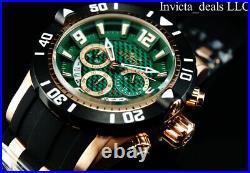 Invicta Mens 50mm Pro Diver Gen III Chrono GREEN Carbon Fiber Dial Rose IP Watch