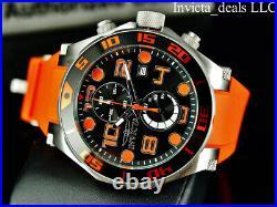 Invicta Mens 50mm Pro Diver OCEAN SCUBA Chrono Black Dial Orange Jellyfish Watch