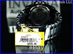 Invicta Mens 50mm Pro Diver Scuba Chronograph COMBAT Triple Black Red Dial Watch