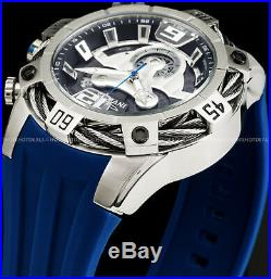 Invicta Mens 51mm Bolt Swiss ETA Chronograph RD Stainless Steel Blue Strap Watch