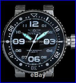 Invicta Mens 52MM Grand Pro Diver Black'N Silver Big'N Thick S. S. 100MT Watch