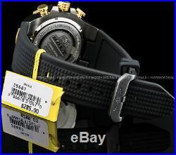 Invicta Mens 52mm Bolt Chronograph Carbon Fiber Dial Gold Plated Bezel SS Watch