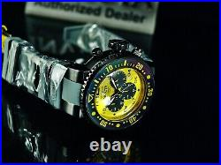 Invicta Mens 52mm GRAND PRO DIVER Ocean Voyager Chronograph YELLOW DIAL SS Watch