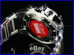 Invicta Mens 52mm Limited Edition Marvel Punisher Bolt Chrono Black Silver Watch