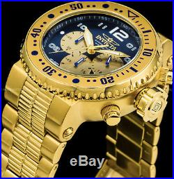 Invicta Mens 52mm Pro Diver Combat Seal Chronograph 18k Gold Plated 500MT Watch