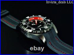 Invicta Mens 52mm Pro Diver OCEAN MASTER COMBAT Triple Black & Red Tone SS Watch