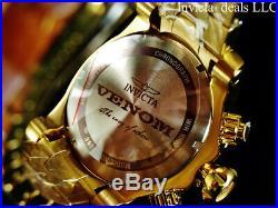 Invicta Mens 52mm Reserve Venom Bolt Swiss ETA Chronograph 18K Gold Plated Watch