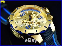 Invicta Mens 52mm S1 Rally Turbo Quartz Chronograph Gold Tone Champagne DL Watch